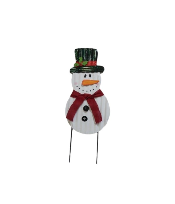TIN SNOWMAN YARD ART CS. PK.: 12