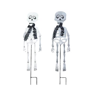 TIN GLITTER SKELETON 2 ASST. CS. PK.: 12