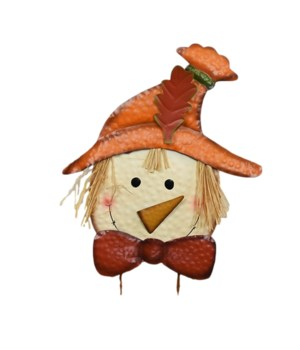 TIN SCARECROW YARD ART STAKE CS. PK.: 12