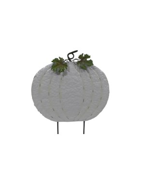 "24"" WHITE PUMPKIN YARD ART CS. PK.: 6"