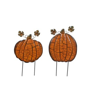 TIN PUMPKIN YARD ART CS. PK.: 12