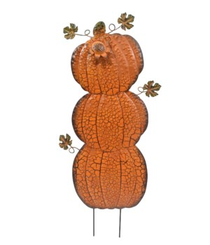 VERT. FALL TRIPLE PUMPKIN YARD ART CS. PK.: 12