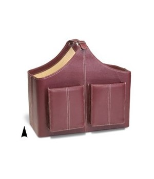 97532 FAUX LEATHER MAGAZINE HOLDER 3 ASST. COLORS CS. PK.: 3
