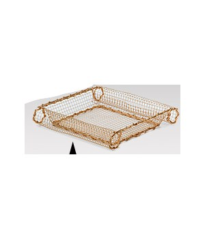 9W080/Sq GOLD METAL SCROLL TRAY CS. PK.: 48