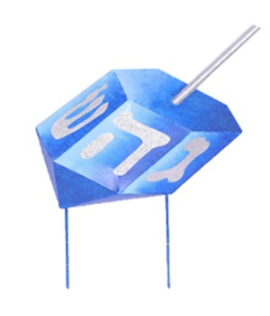 DREIDEL YARD ART CS. PK.: 6