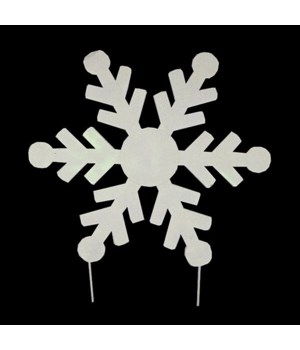 "12"" TIN SNOWFLAKE CS. PK.: 24"