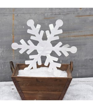 "22"" TIN SNOWFLAKE CS. PK.: 12"