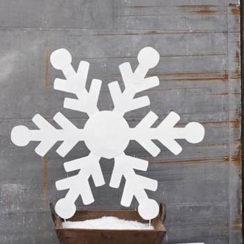 """36"""" TIN SNOWFLAKE CS. PK.: 6"""