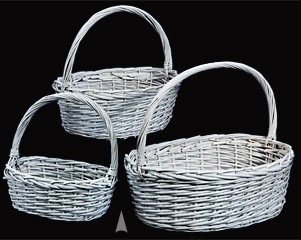 Painted Willow Baskets