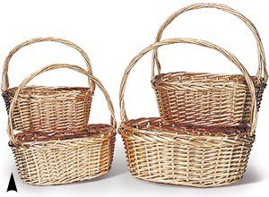 Metallic Willow Baskets