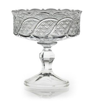 FB-044 FANCY GALSS BOWL W/PEDESTAL CS. PK.: 6
