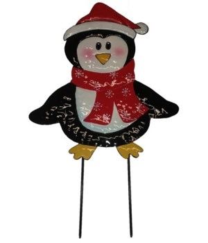 TIN PENGUIN YARD ART CS. PK.: 12