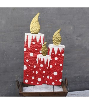 TIN CANDLE W/ GLITTER CS. PK.: 6