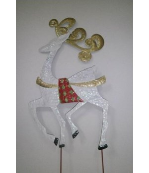 TIN GLITTER DEER CS. PK.: 6