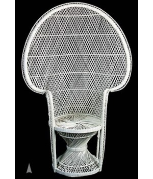 M/60W WHITE PEACOCK CHAIR CS. PK.: 1