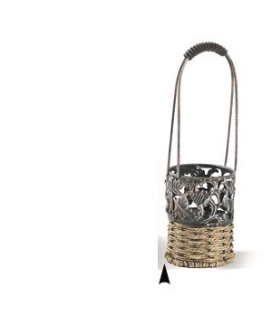 M1B METAL AND SEAGRASS 1 BOTTLE HOLDER CS. PK.: 36
