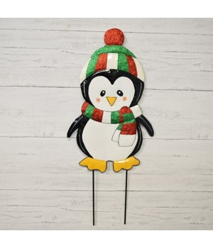 "26"" TIN PENGUIN STAKE CS. PK.: 12"