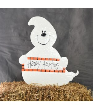 TIN HAPPY HALLOWEEN GHOST YARD ART CS. PK.: 6
