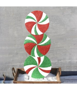 TRIPLE ORNAMENT YARD ART CS. PK.: 6