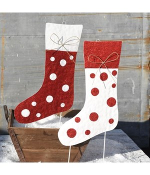 TIN CHRISTMAS STOCKING2 ASST. CS. PK.: 12