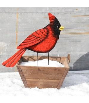 TIN RED CARDINAL YARD ART CS. PK.: 6