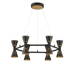 Houston Chandelier in Black/Gold