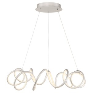 Alexander Chandelier in Satin Nickel