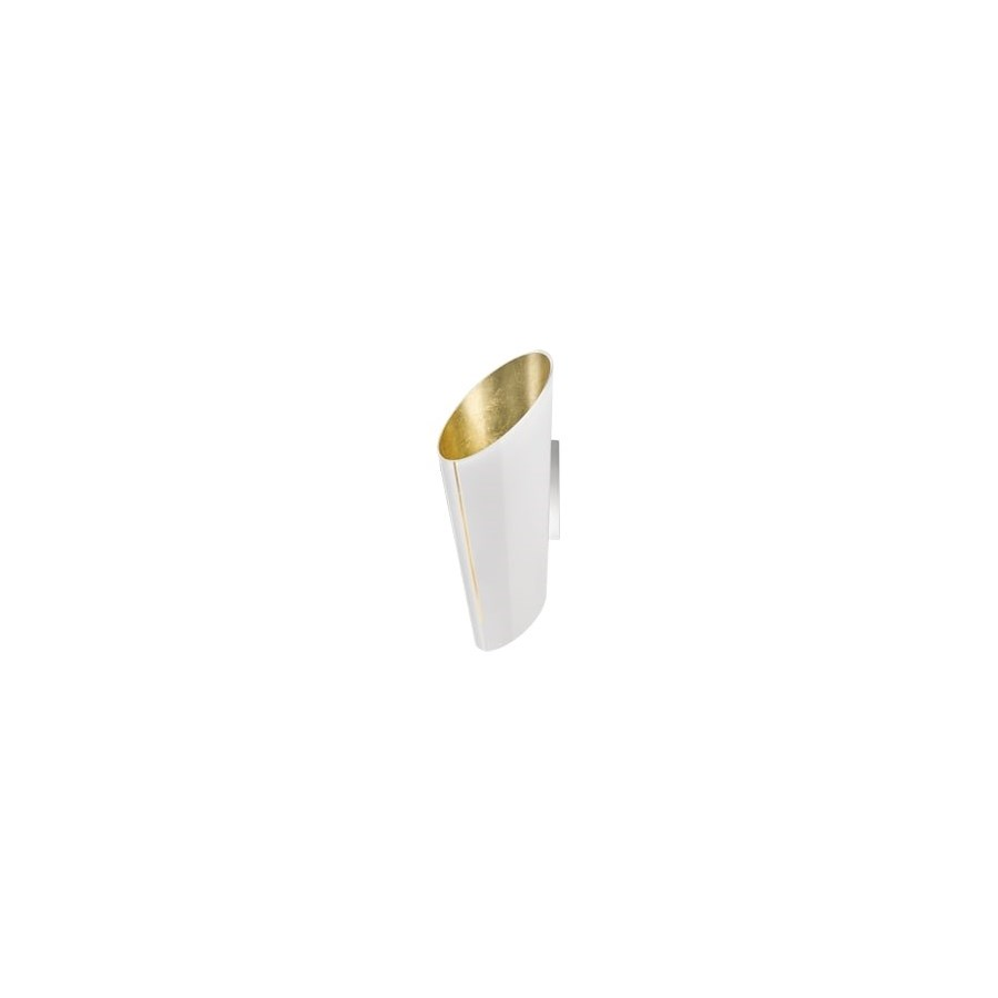 Madeira Wall Sconce in White/Gold Leaf