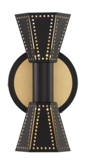 Houston Wall Sconce in Black/Gold