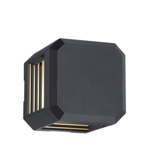 Logone Wall Sconce in Charcoal