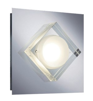Brooklyn 1 Light Wall Sconce in Chrome