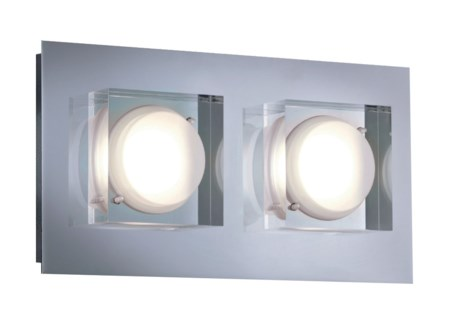 Brooklyn 2 Light Wall Sconce in Chrome
