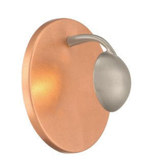 Aurora Wall Sconce in Copper Plated/Silver