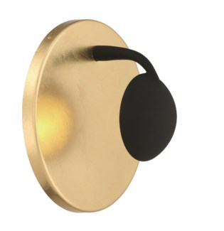 Aurora Wall Sconce in Gold Plated/Black