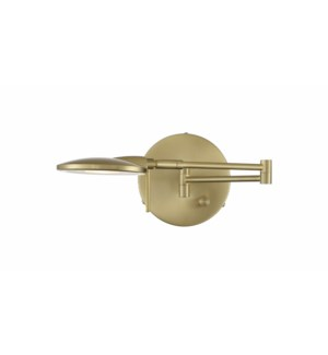 Dessau Turbo Wall Mount in Satin Brass