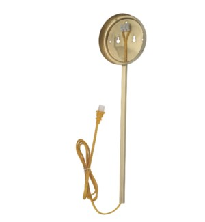 Dessau Turbo Wall Pin-Up Kit in Satin Brass
