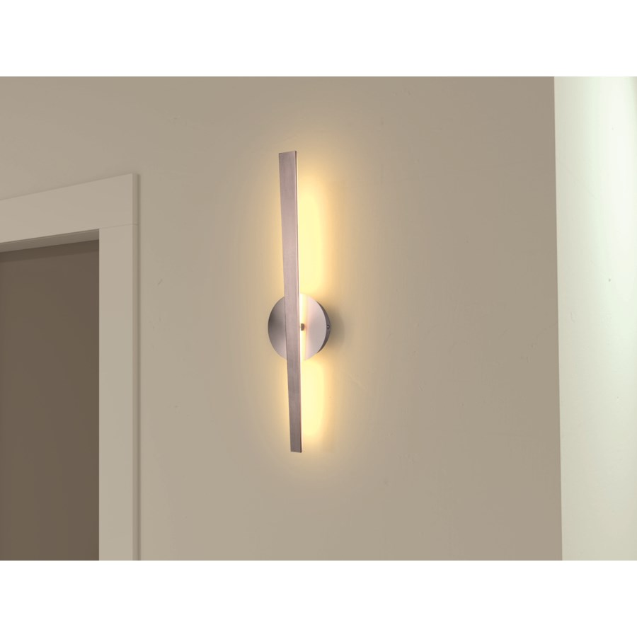Flagstaff Wall Lamp in Satin Nickel