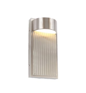 Las Cruces Small Outdoor Wall Sconce in Satin Nickel