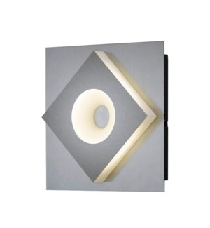 Atlanta 1 Light Wall Mount in Satin Nickel