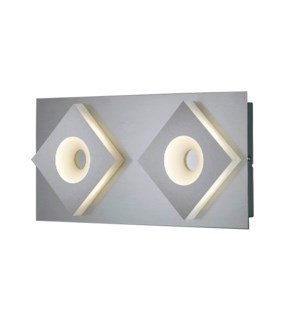 Atlanta 2 Light Wall Mount in Satin Nickel