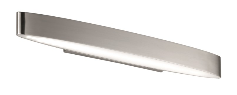 H2O Straight Wall Sconce in Satin Nickel