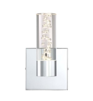 H2O 1 Light Bubble Wall Sconce in Chrome