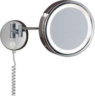 H2O Wall Mounted Mirror in Chrome