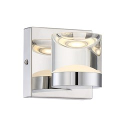 H2O 1 Light Wall Sconce in Chrome