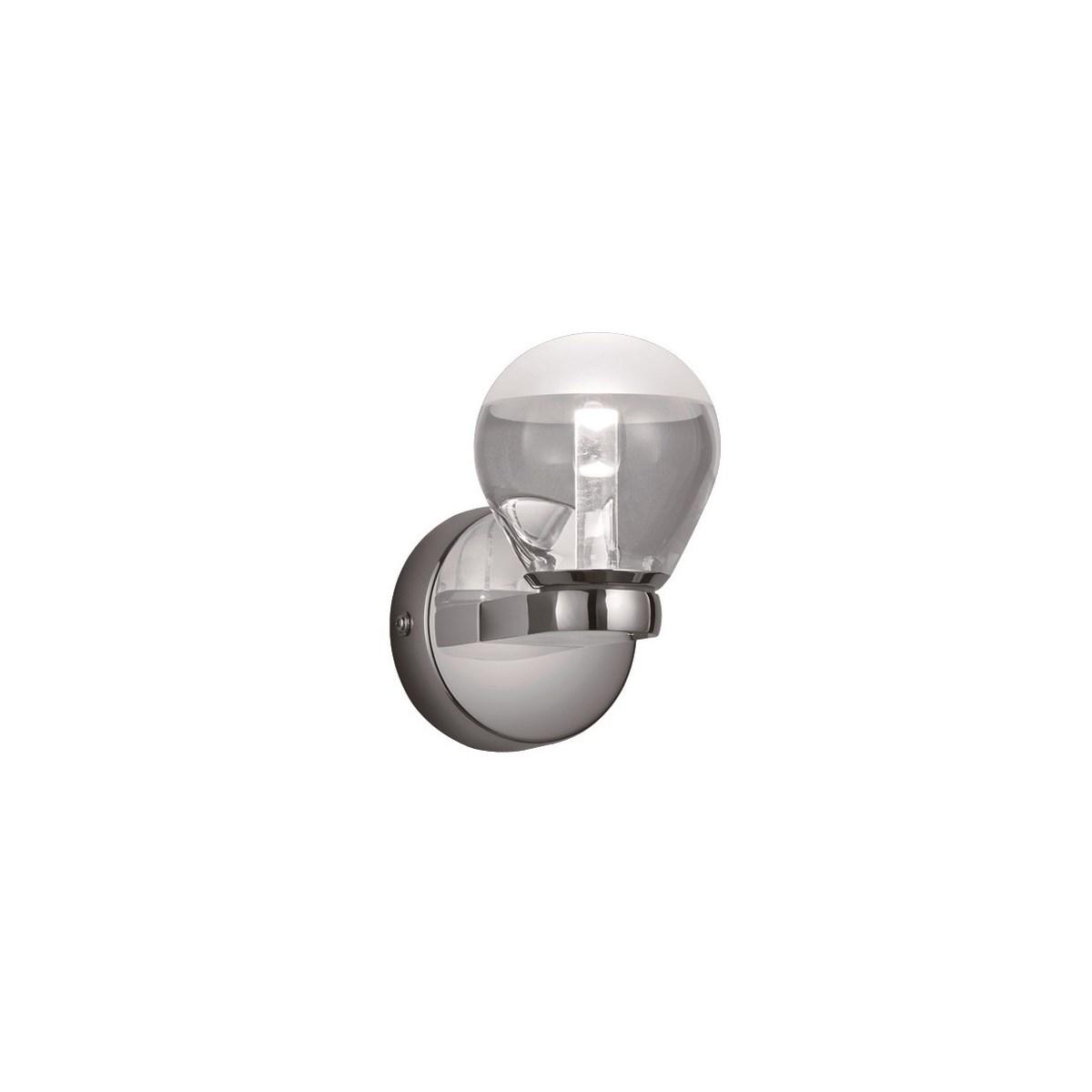 H2O 1 Light Bulb Wall Sconce in Chrome