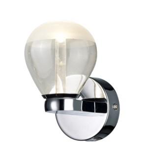 H2O 1 Light Round Wall Sconce in Chrome