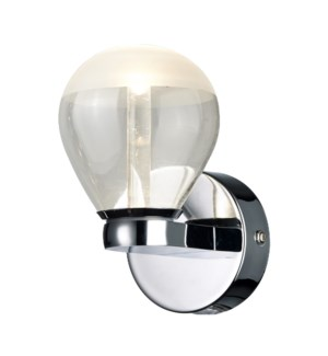 H2O 1 Light Bulb Wall Sconce in Chrome