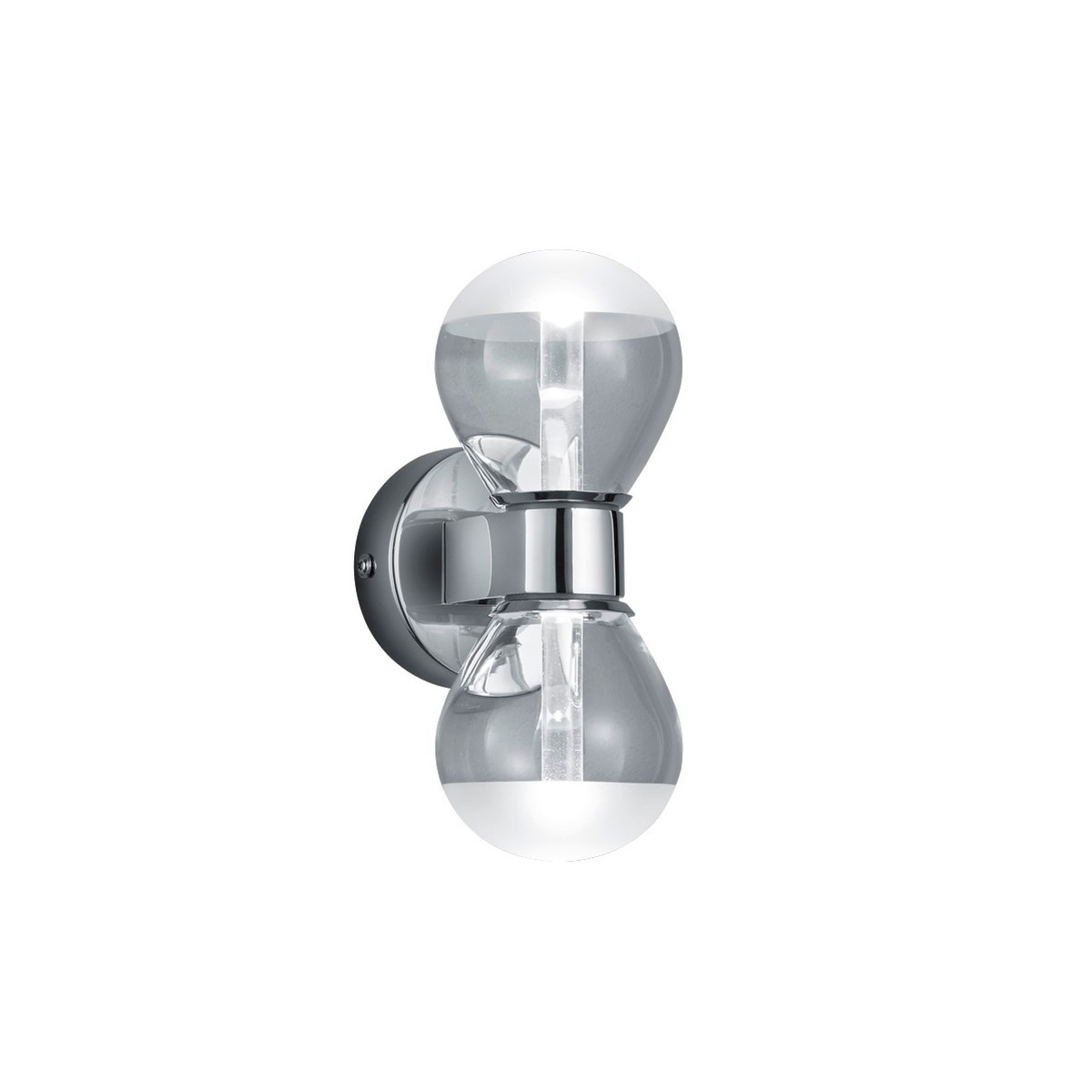 H2O 2 Light Bulb Wall Sconce in Chrome