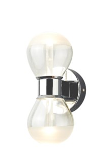 H2O 2 Light Round Wall Sconce in Chrome