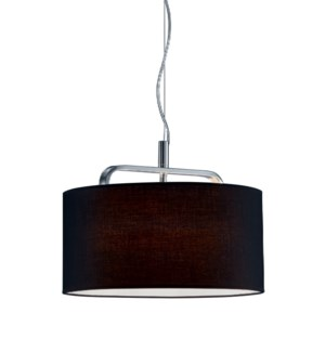 Cannes Pendant with Black Shade